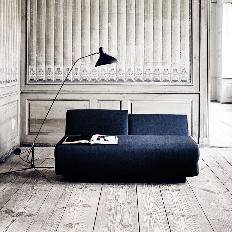 Softline City Two Seat Sofa Bed Lifeshot 01 Olson and Baker - Designer & Contemporary Sofas, Furniture - Olson and Baker showcases original designs from authentic, designer brands. Buy contemporary furniture, lighting, storage, sofas & chairs at Olson + Baker.