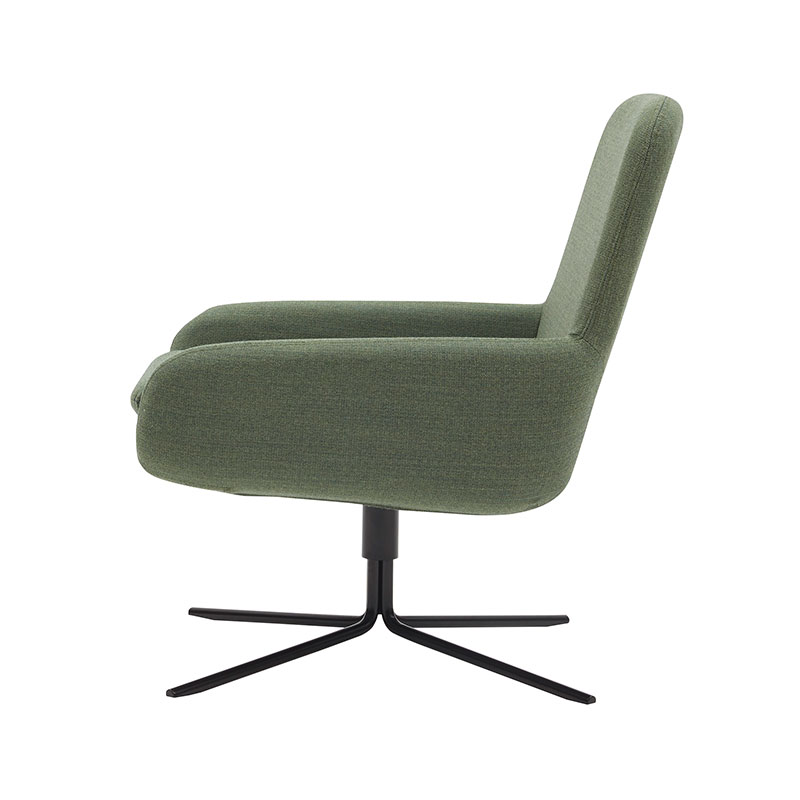 Softline Coco Swivel Chair 982 Remix 2 Black 03 Olson and Baker - Designer & Contemporary Sofas, Furniture - Olson and Baker showcases original designs from authentic, designer brands. Buy contemporary furniture, lighting, storage, sofas & chairs at Olson + Baker.