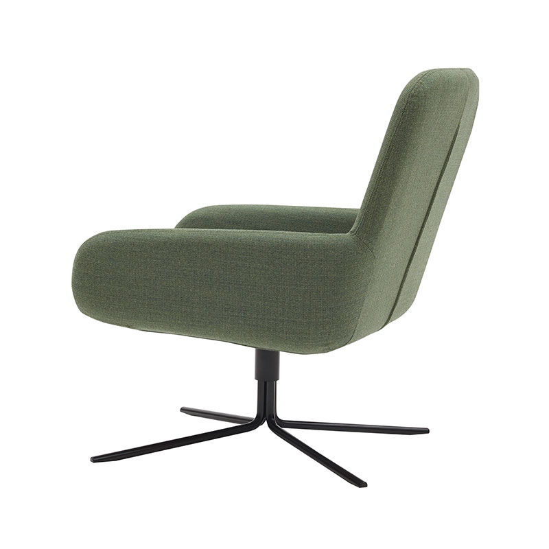 Softline Coco Swivel Chair 982 Remix 2 Black 04 Olson and Baker - Designer & Contemporary Sofas, Furniture - Olson and Baker showcases original designs from authentic, designer brands. Buy contemporary furniture, lighting, storage, sofas & chairs at Olson + Baker.