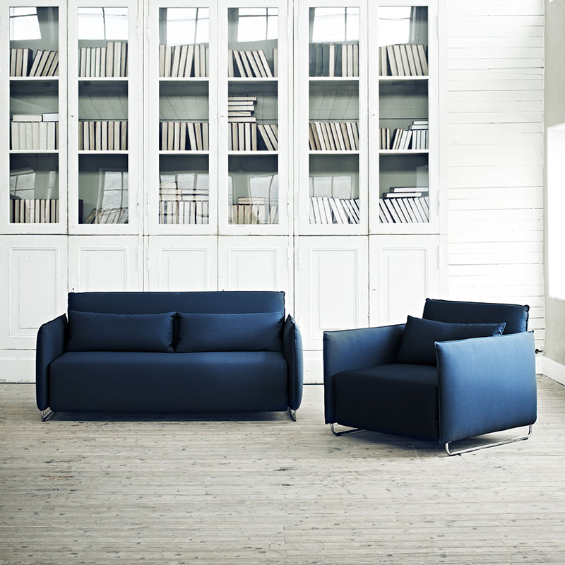 Softline Cord Chair & Single Sofa Bed Tempo 275 Lifeshot 01 Olson and Baker - Designer & Contemporary Sofas, Furniture - Olson and Baker showcases original designs from authentic, designer brands. Buy contemporary furniture, lighting, storage, sofas & chairs at Olson + Baker.