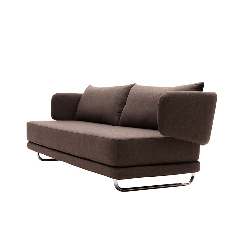 Softline Jasper Three Seat Sofa Bed Felt Melange 635 04 Olson and Baker - Designer & Contemporary Sofas, Furniture - Olson and Baker showcases original designs from authentic, designer brands. Buy contemporary furniture, lighting, storage, sofas & chairs at Olson + Baker.