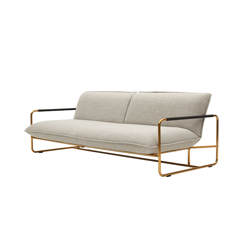 Softline Nova Three Seat Sofa Bed 213 Divina MD Brass 03 Olson and Baker - Designer & Contemporary Sofas, Furniture - Olson and Baker showcases original designs from authentic, designer brands. Buy contemporary furniture, lighting, storage, sofas & chairs at Olson + Baker.