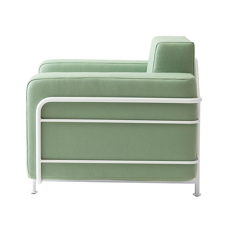Softline Silver Chair 856 Divina 3 White 02 Olson and Baker - Designer & Contemporary Sofas, Furniture - Olson and Baker showcases original designs from authentic, designer brands. Buy contemporary furniture, lighting, storage, sofas & chairs at Olson + Baker.