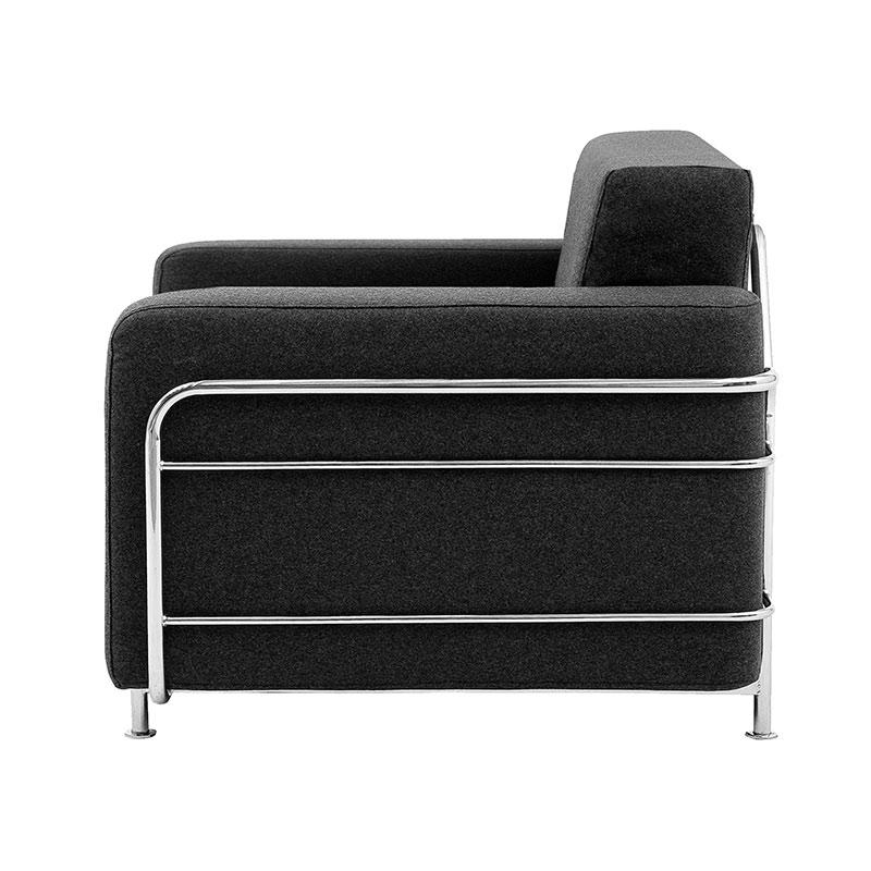 Softline Silver Chair Felt-Melange 610 Chrome 02 Olson and Baker - Designer & Contemporary Sofas, Furniture - Olson and Baker showcases original designs from authentic, designer brands. Buy contemporary furniture, lighting, storage, sofas & chairs at Olson + Baker.