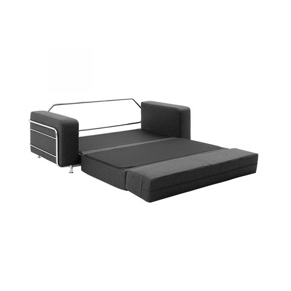 Silver Two Seat Sofa Bed