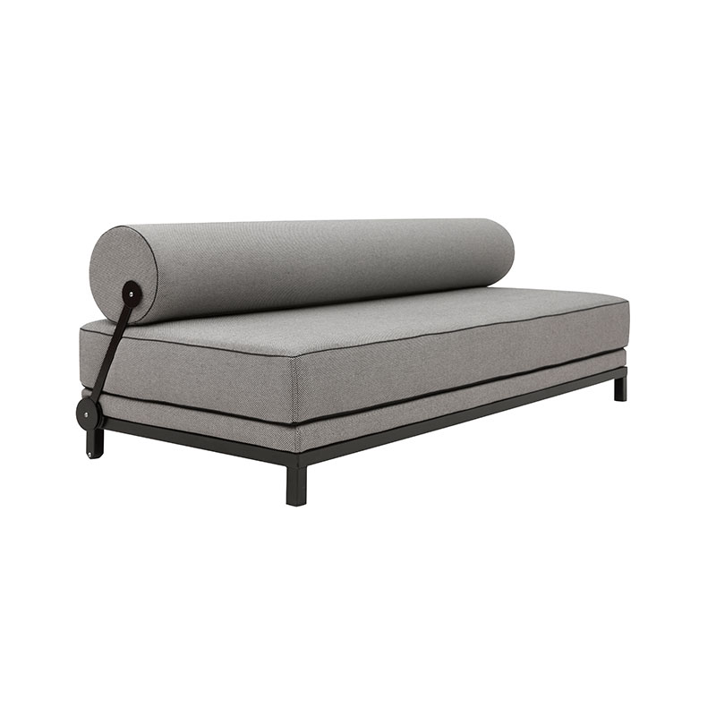Softline Sleep Three Seat Sofa Bed 470 Cento Black 02 Olson and Baker - Designer & Contemporary Sofas, Furniture - Olson and Baker showcases original designs from authentic, designer brands. Buy contemporary furniture, lighting, storage, sofas & chairs at Olson + Baker.