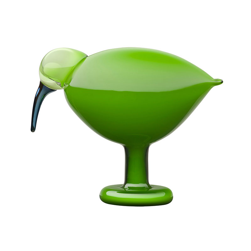 Iittala Birds by Toikka 205x165mm Green Ibis by Oiva Toikka Olson and Baker - Designer & Contemporary Sofas, Furniture - Olson and Baker showcases original designs from authentic, designer brands. Buy contemporary furniture, lighting, storage, sofas & chairs at Olson + Baker.