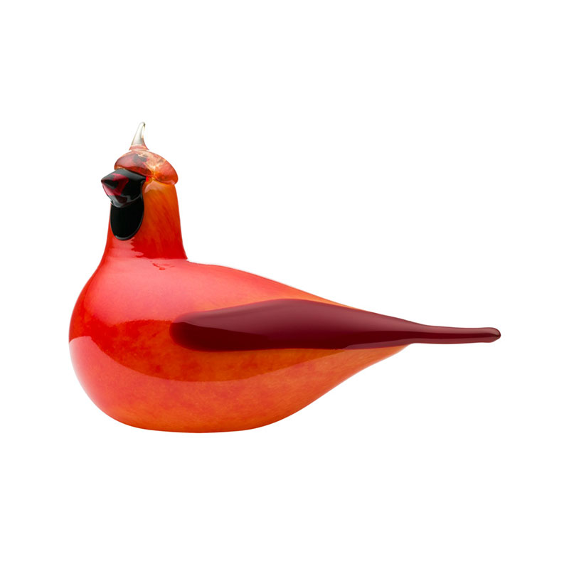 Iittala Birds by Toikka 210x145mm Red Cardinal by Oiva Toikka Olson and Baker - Designer & Contemporary Sofas, Furniture - Olson and Baker showcases original designs from authentic, designer brands. Buy contemporary furniture, lighting, storage, sofas & chairs at Olson + Baker.