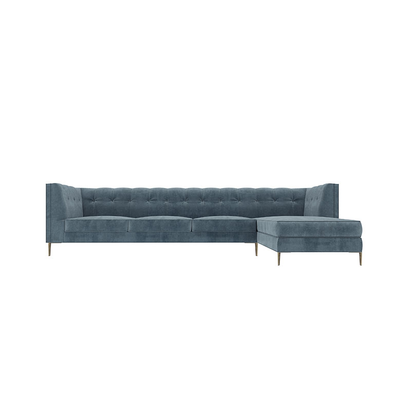 Olson and Baker Fleming Four Seat Corner Sofa with Chaise by Olson and Baker Studio