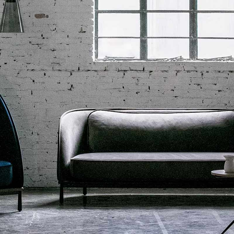 Stellar Works Arc Three Seat Sofa by Hallgeir Homstvedt 3 Olson and Baker - Designer & Contemporary Sofas, Furniture - Olson and Baker showcases original designs from authentic, designer brands. Buy contemporary furniture, lighting, storage, sofas & chairs at Olson + Baker.