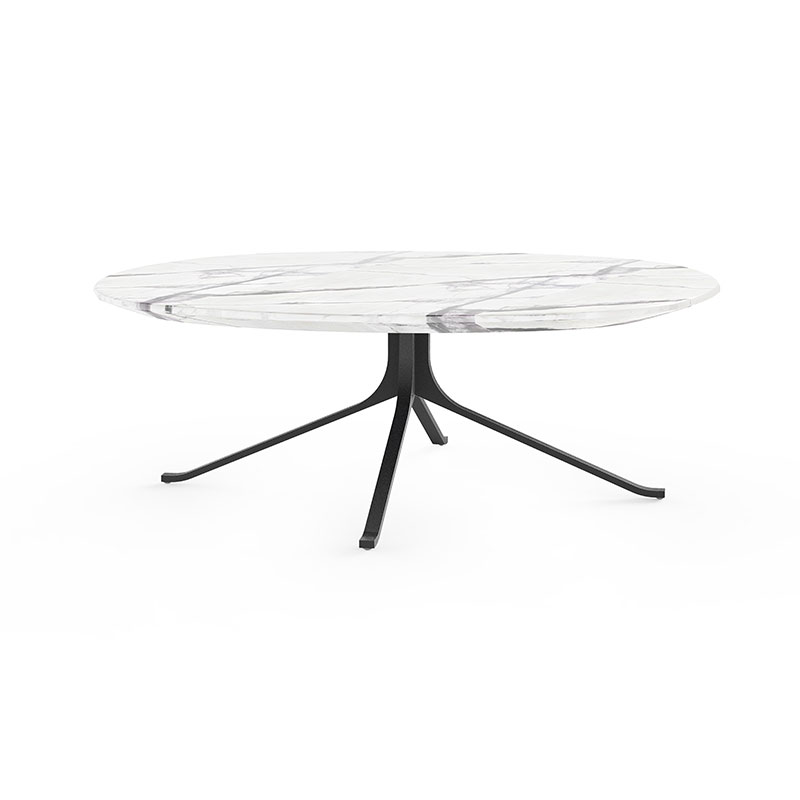 Stellar Works Blink Round Coffee Table by Yabu Pushelberg Olson and Baker - Designer & Contemporary Sofas, Furniture - Olson and Baker showcases original designs from authentic, designer brands. Buy contemporary furniture, lighting, storage, sofas & chairs at Olson + Baker.
