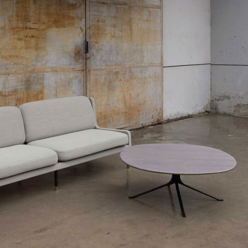 Stellar Works Blink Round Coffee Table by Yabu Pushelberg wood 2 Olson and Baker - Designer & Contemporary Sofas, Furniture - Olson and Baker showcases original designs from authentic, designer brands. Buy contemporary furniture, lighting, storage, sofas & chairs at Olson + Baker.