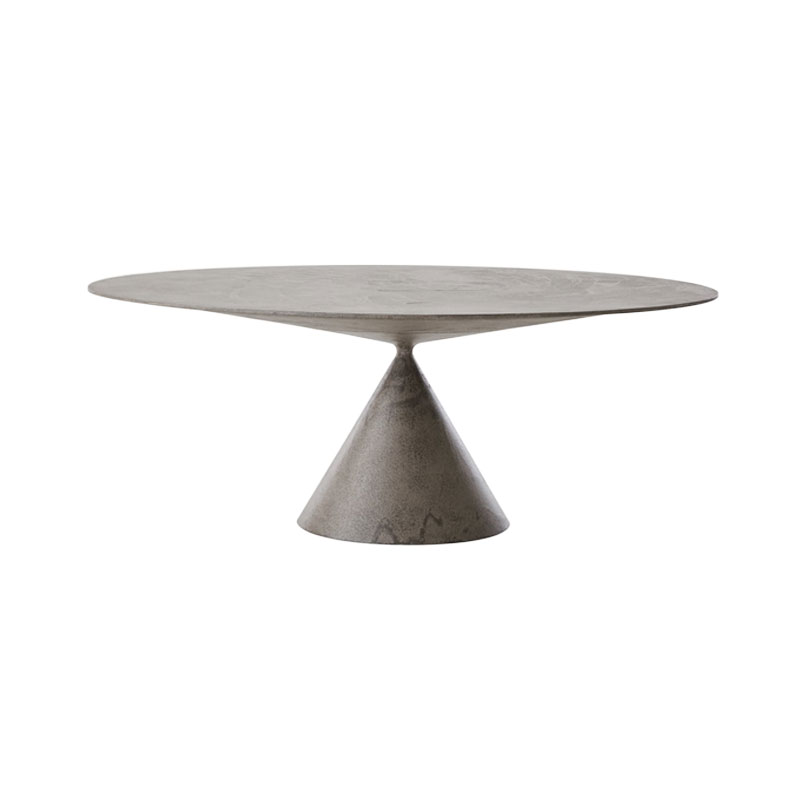 Desalto Clay Outdoor Oval 120x180cm Table in Stone by Marc Krusin Olson and Baker - Designer & Contemporary Sofas, Furniture - Olson and Baker showcases original designs from authentic, designer brands. Buy contemporary furniture, lighting, storage, sofas & chairs at Olson + Baker.
