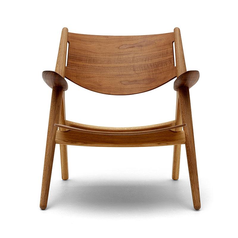 Carl Hansen CH28T Unupholstered Lounge Chair by Hans Wegner Olson and Baker - Designer & Contemporary Sofas, Furniture - Olson and Baker showcases original designs from authentic, designer brands. Buy contemporary furniture, lighting, storage, sofas & chairs at Olson + Baker.