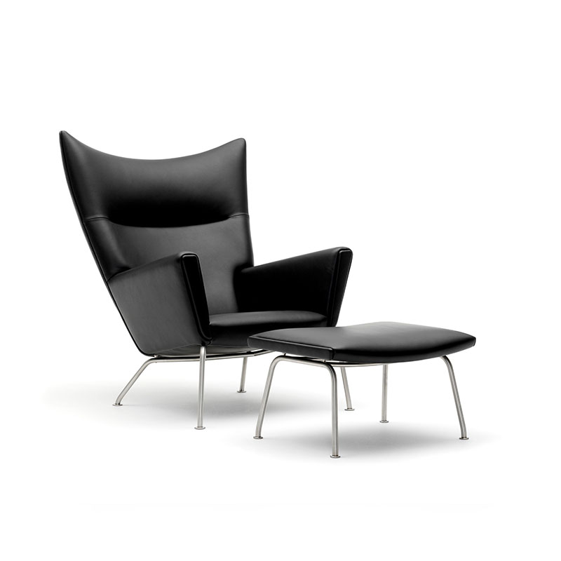 Carl Hansen CH445 Wing Lounge Chair by Hans Wegner Thor 301 and stool Olson and Baker - Designer & Contemporary Sofas, Furniture - Olson and Baker showcases original designs from authentic, designer brands. Buy contemporary furniture, lighting, storage, sofas & chairs at Olson + Baker.