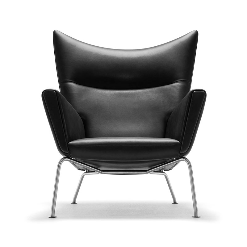 Carl Hansen CH445 Wing Lounge Chair by Hans Wegner Olson and Baker - Designer & Contemporary Sofas, Furniture - Olson and Baker showcases original designs from authentic, designer brands. Buy contemporary furniture, lighting, storage, sofas & chairs at Olson + Baker.