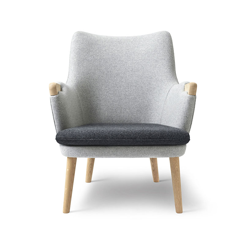 Carl Hansen CH71 Lounge Chair with Loose Seat Cushion by Hans Wegner Olson and Baker - Designer & Contemporary Sofas, Furniture - Olson and Baker showcases original designs from authentic, designer brands. Buy contemporary furniture, lighting, storage, sofas & chairs at Olson + Baker.