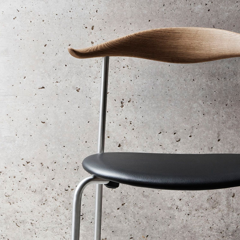 Carl Hansen CH88P Seat Upholstered Chair by Hans Wegner Chrome and Thor 301 Leather life 1 Olson and Baker - Designer & Contemporary Sofas, Furniture - Olson and Baker showcases original designs from authentic, designer brands. Buy contemporary furniture, lighting, storage, sofas & chairs at Olson + Baker.