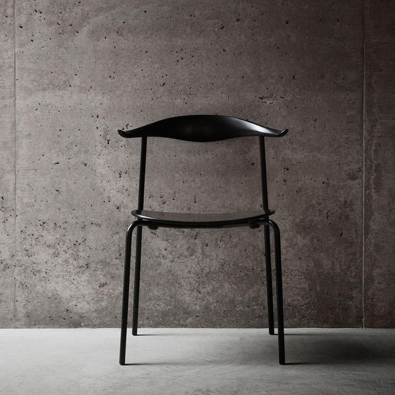 Carl Hansen CH88T Unupholstered Chair by Hans Wegner Black life 2 Olson and Baker - Designer & Contemporary Sofas, Furniture - Olson and Baker showcases original designs from authentic, designer brands. Buy contemporary furniture, lighting, storage, sofas & chairs at Olson + Baker.