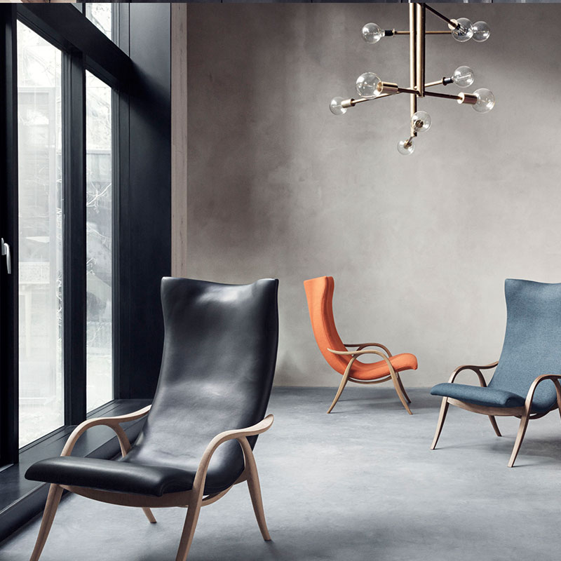 Carl Hansen FH429 Signature Lounge Chair by Frits Hanningsen life 5 Olson and Baker - Designer & Contemporary Sofas, Furniture - Olson and Baker showcases original designs from authentic, designer brands. Buy contemporary furniture, lighting, storage, sofas & chairs at Olson + Baker.