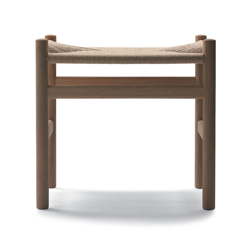 Carl Hansen CH53 Stool by Hans Wegner Olson and Baker - Designer & Contemporary Sofas, Furniture - Olson and Baker showcases original designs from authentic, designer brands. Buy contemporary furniture, lighting, storage, sofas & chairs at Olson + Baker.