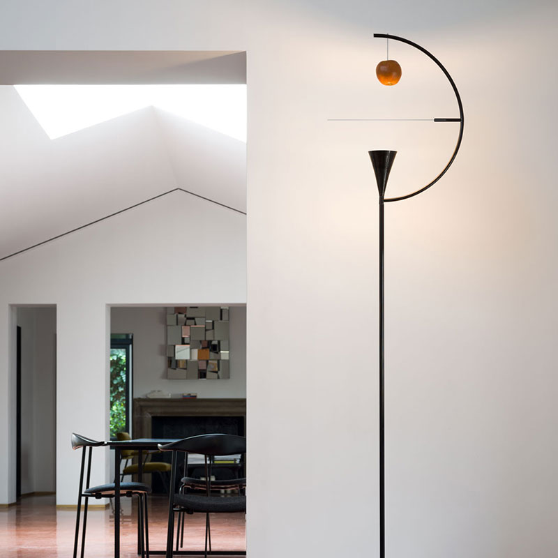 Nemo Newton Floor Lamp by Andrea Branzi 2 Olson and Baker - Designer & Contemporary Sofas, Furniture - Olson and Baker showcases original designs from authentic, designer brands. Buy contemporary furniture, lighting, storage, sofas & chairs at Olson + Baker.