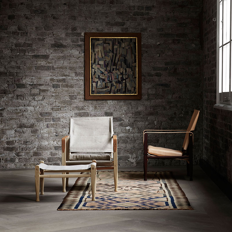 Carl Hansen KK4700 Safari Chair by Kaare Klint with Cushion - Ash natural Canvas 4 Olson and Baker - Designer & Contemporary Sofas, Furniture - Olson and Baker showcases original designs from authentic, designer brands. Buy contemporary furniture, lighting, storage, sofas & chairs at Olson + Baker.