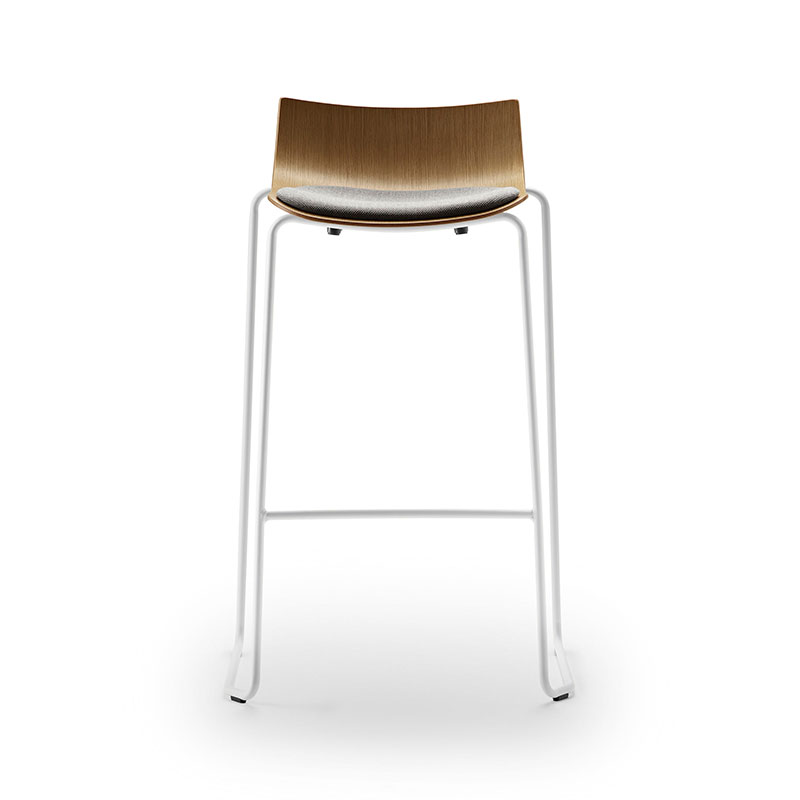 Carl Hansen BA004S Preludia Seat Upholstered Bar Stool by Brad Ascalon Olson and Baker - Designer & Contemporary Sofas, Furniture - Olson and Baker showcases original designs from authentic, designer brands. Buy contemporary furniture, lighting, storage, sofas & chairs at Olson + Baker.