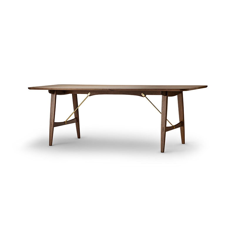 Carl Hansen BM1160 Hunting 210x82cm Dining Table by Borge Mogensen Olson and Baker - Designer & Contemporary Sofas, Furniture - Olson and Baker showcases original designs from authentic, designer brands. Buy contemporary furniture, lighting, storage, sofas & chairs at Olson + Baker.