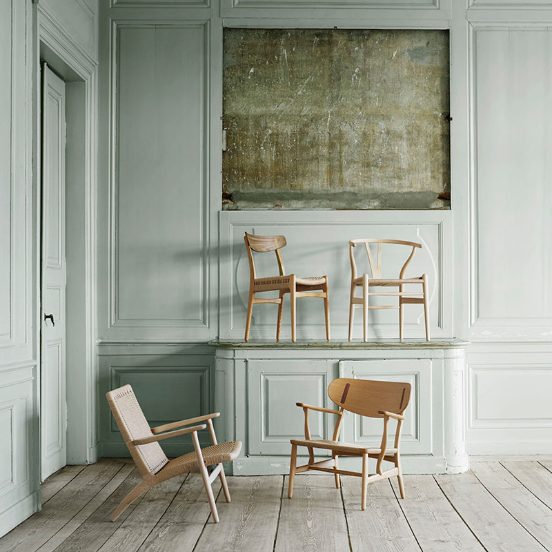 Carl Hansen CH23 Chair by Hans Wegner life 2 Olson and Baker - Designer & Contemporary Sofas, Furniture - Olson and Baker showcases original designs from authentic, designer brands. Buy contemporary furniture, lighting, storage, sofas & chairs at Olson + Baker.