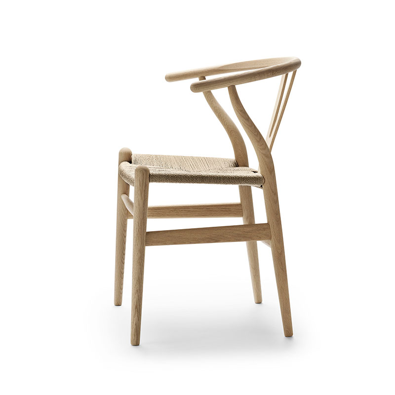 Carl Hansen CH24 Wishbone Chair by Hans Wegner Soaped Oak with Natural Paper Cord 3 Olson and Baker - Designer & Contemporary Sofas, Furniture - Olson and Baker showcases original designs from authentic, designer brands. Buy contemporary furniture, lighting, storage, sofas & chairs at Olson + Baker.