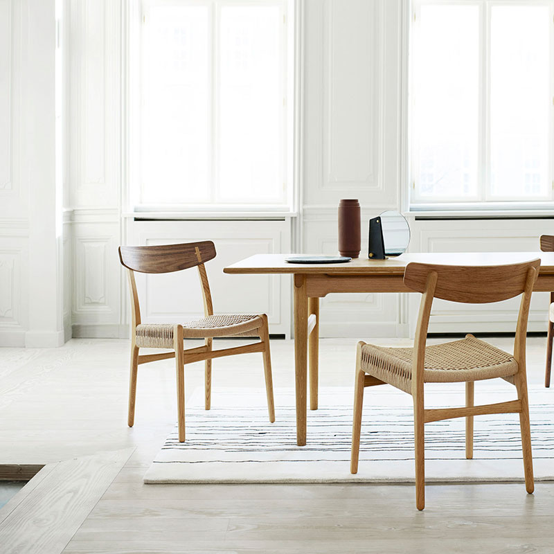 Carl Hansen CH327 Dining Table by Hans Wegner in Oiled Oak life 2 Olson and Baker - Designer & Contemporary Sofas, Furniture - Olson and Baker showcases original designs from authentic, designer brands. Buy contemporary furniture, lighting, storage, sofas & chairs at Olson + Baker.