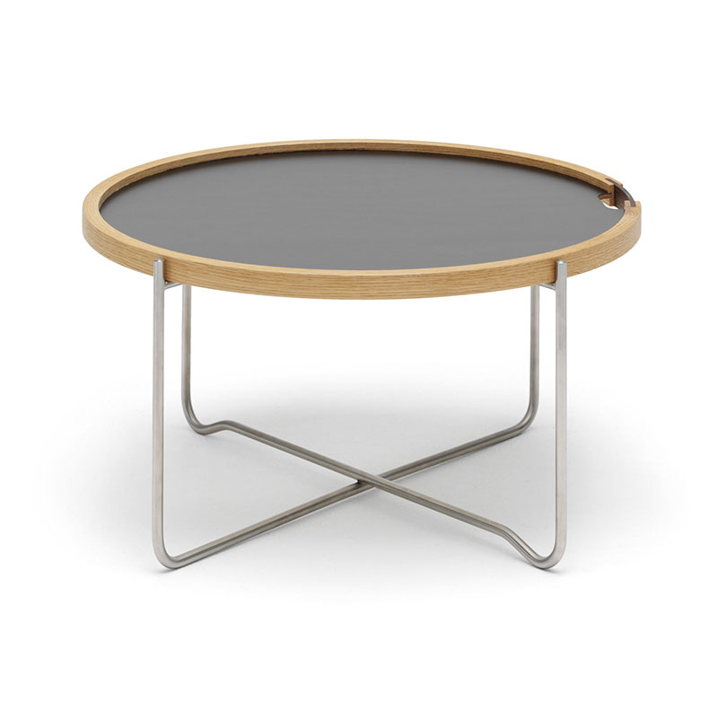 Carl Hansen CH417 Tray Table by Hans Wegner Olson and Baker - Designer & Contemporary Sofas, Furniture - Olson and Baker showcases original designs from authentic, designer brands. Buy contemporary furniture, lighting, storage, sofas & chairs at Olson + Baker.