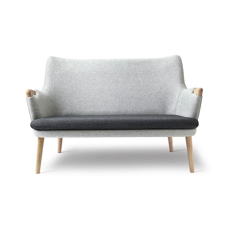 Carl Hansen CH72 Two Seat Sofa with Loose Seat Cushion by Hans Wegner Olson and Baker - Designer & Contemporary Sofas, Furniture - Olson and Baker showcases original designs from authentic, designer brands. Buy contemporary furniture, lighting, storage, sofas & chairs at Olson + Baker.