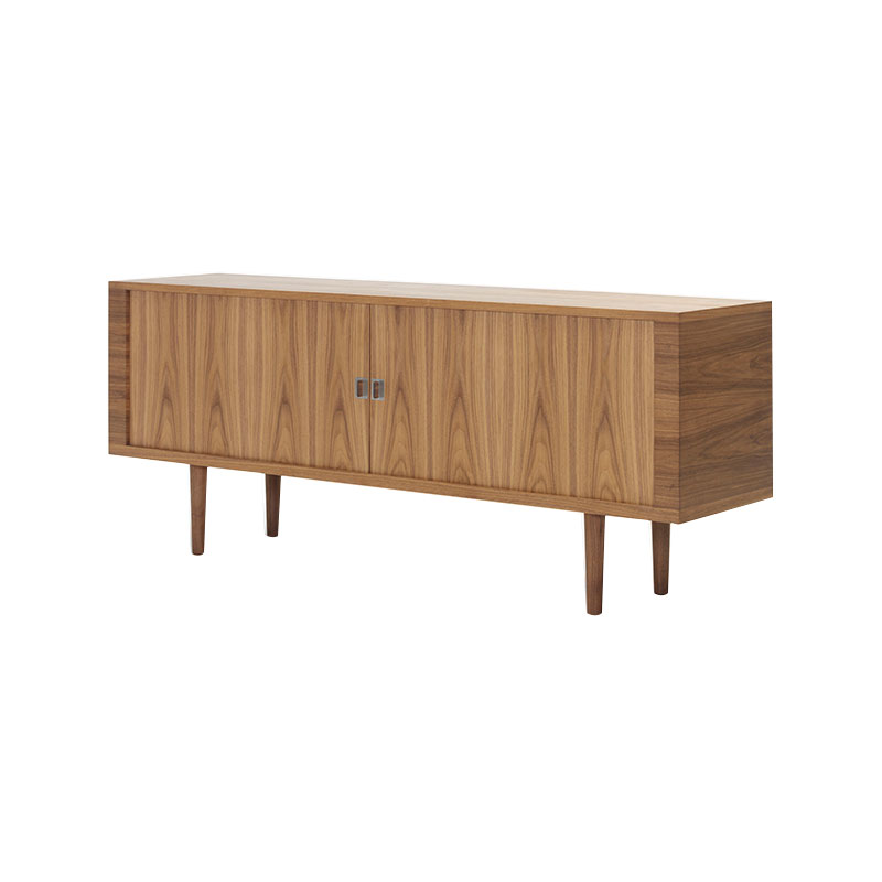 Carl Hansen CH825 Credenza by Hans Wegner Oil Walnut 2 Olson and Baker - Designer & Contemporary Sofas, Furniture - Olson and Baker showcases original designs from authentic, designer brands. Buy contemporary furniture, lighting, storage, sofas & chairs at Olson + Baker.