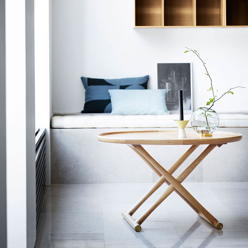 Carl Hansen ML10097 Egyptian Table by Mogens Lassen life 1 Olson and Baker - Designer & Contemporary Sofas, Furniture - Olson and Baker showcases original designs from authentic, designer brands. Buy contemporary furniture, lighting, storage, sofas & chairs at Olson + Baker.