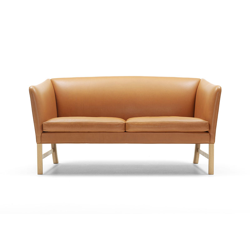Carl Hansen OW602 Two Seat Sofa by Ole Wanscher Olson and Baker - Designer & Contemporary Sofas, Furniture - Olson and Baker showcases original designs from authentic, designer brands. Buy contemporary furniture, lighting, storage, sofas & chairs at Olson + Baker.