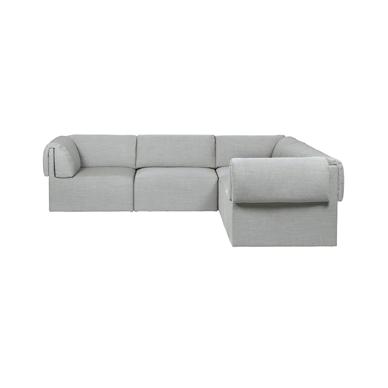 Gubi Wonder 3x2 Seat Corner Sofa by Space Copenhagen Olson and Baker - Designer & Contemporary Sofas, Furniture - Olson and Baker showcases original designs from authentic, designer brands. Buy contemporary furniture, lighting, storage, sofas & chairs at Olson + Baker.