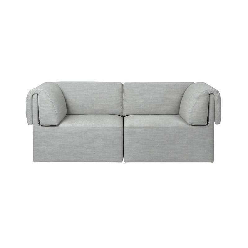 Gubi Wonder Two Seat Sofa by Space Copenhagen Olson and Baker - Designer & Contemporary Sofas, Furniture - Olson and Baker showcases original designs from authentic, designer brands. Buy contemporary furniture, lighting, storage, sofas & chairs at Olson + Baker.