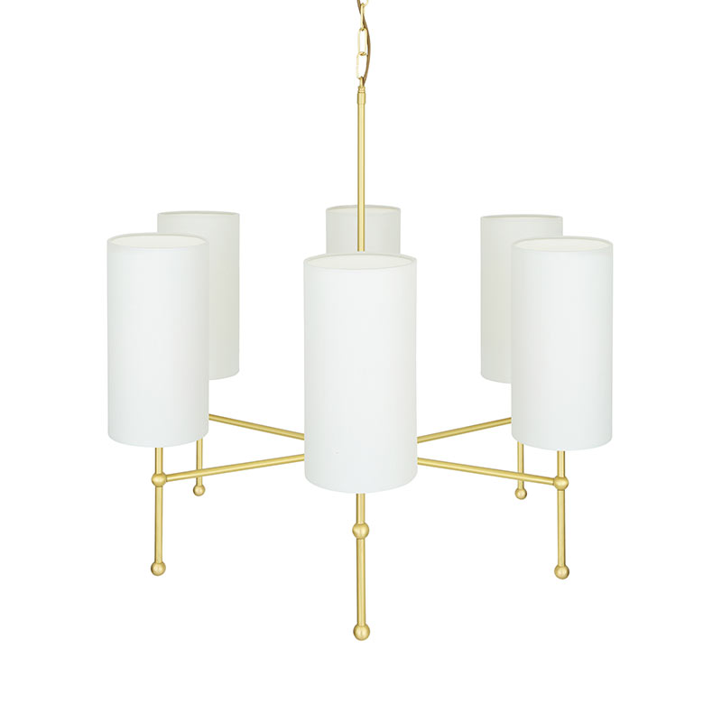 Mullan Lighting Arizona Six Arm Chandelier by Mullan Lighting Olson and Baker - Designer & Contemporary Sofas, Furniture - Olson and Baker showcases original designs from authentic, designer brands. Buy contemporary furniture, lighting, storage, sofas & chairs at Olson + Baker.