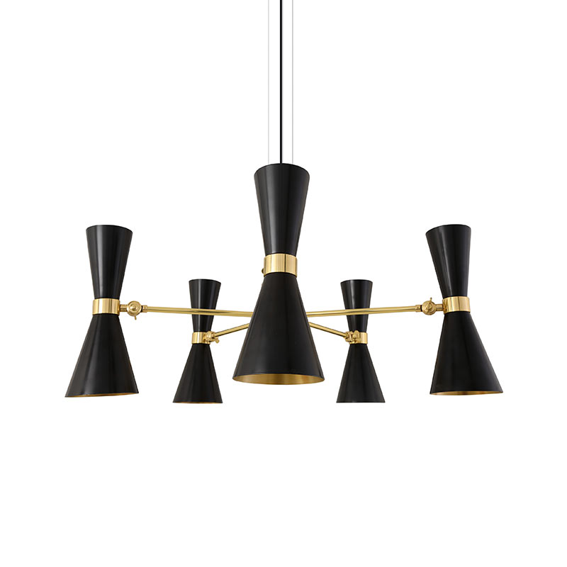 Mullan_Lighting_Cairo_5_Arm_Chandelier_by_Mullan_Lighting_Black_1 Olson and Baker - Designer & Contemporary Sofas, Furniture - Olson and Baker showcases original designs from authentic, designer brands. Buy contemporary furniture, lighting, storage, sofas & chairs at Olson + Baker.