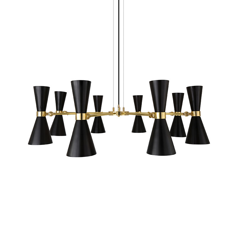Mullan_Lighting_Cairo_8_Arm_Chandelier_by_Mullan_Lighting_Black_2 Olson and Baker - Designer & Contemporary Sofas, Furniture - Olson and Baker showcases original designs from authentic, designer brands. Buy contemporary furniture, lighting, storage, sofas & chairs at Olson + Baker.