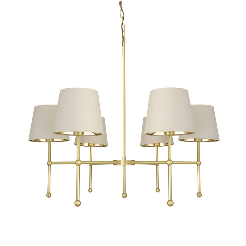 Mullan_Lighting_California_Chandelier_by_Mullan_Lighting_Satin_Brass_1 Olson and Baker - Designer & Contemporary Sofas, Furniture - Olson and Baker showcases original designs from authentic, designer brands. Buy contemporary furniture, lighting, storage, sofas & chairs at Olson + Baker.