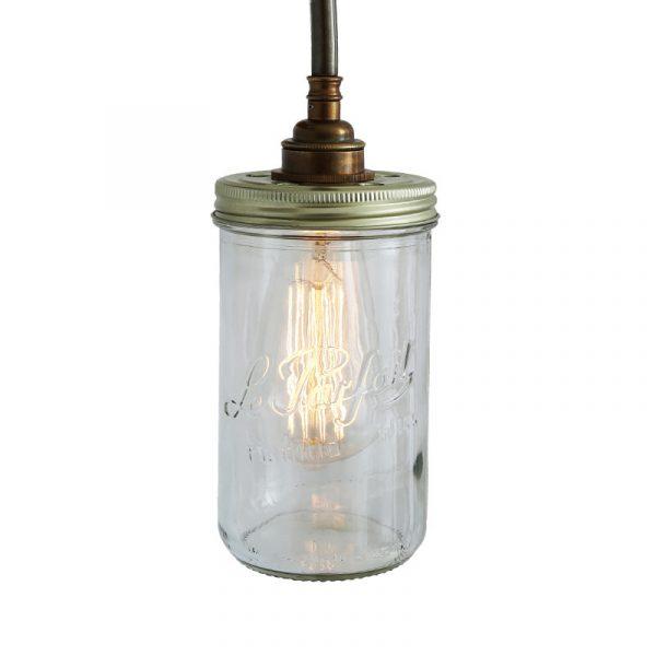 Jam Jar Wall Lamp