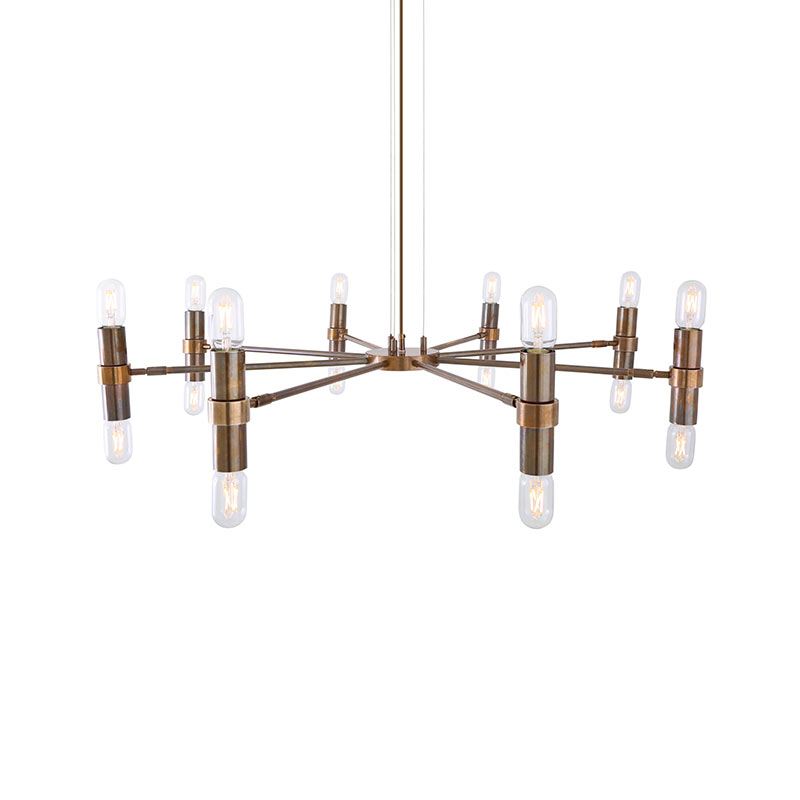 Mullan Lighting Kendu 8 Arm Chandelier by Mullan Lighting Olson and Baker - Designer & Contemporary Sofas, Furniture - Olson and Baker showcases original designs from authentic, designer brands. Buy contemporary furniture, lighting, storage, sofas & chairs at Olson + Baker.