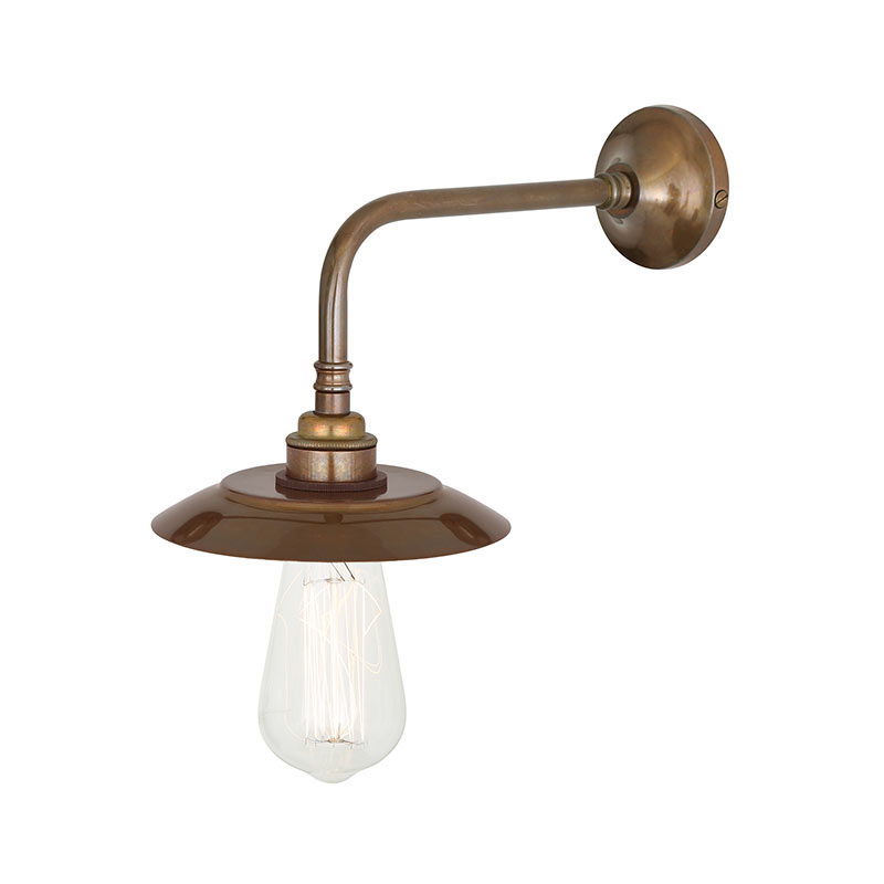 Mullan Lighting Reznor Industrial Wall Lamp by Mullan Lighting Olson and Baker - Designer & Contemporary Sofas, Furniture - Olson and Baker showcases original designs from authentic, designer brands. Buy contemporary furniture, lighting, storage, sofas & chairs at Olson + Baker.