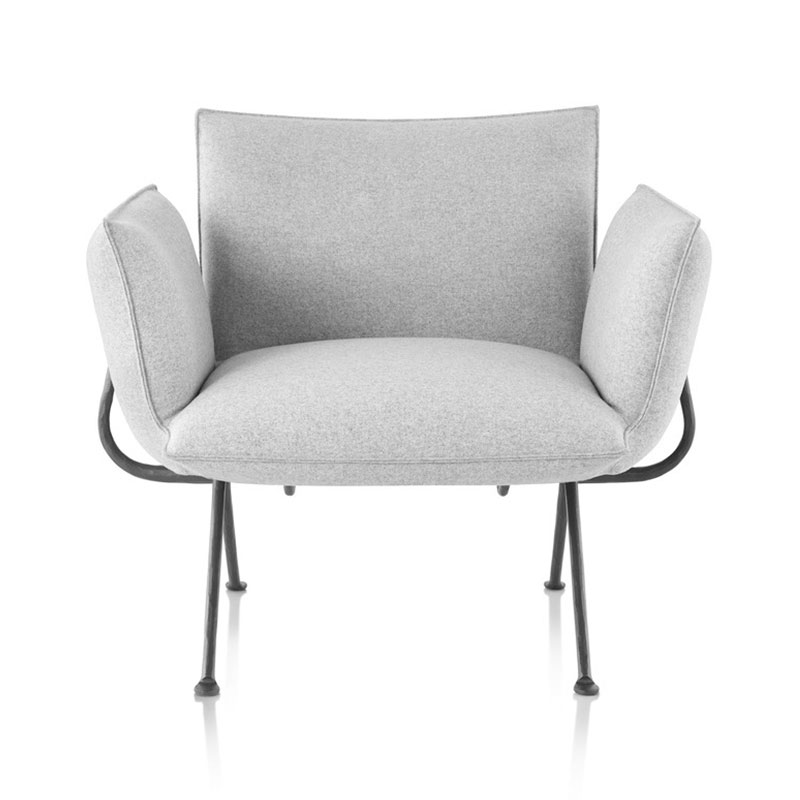 Magis Officina Lounge Chair with Forged Iron Black Base by Ronan & Erwan Bouroullec Olson and Baker - Designer & Contemporary Sofas, Furniture - Olson and Baker showcases original designs from authentic, designer brands. Buy contemporary furniture, lighting, storage, sofas & chairs at Olson + Baker.
