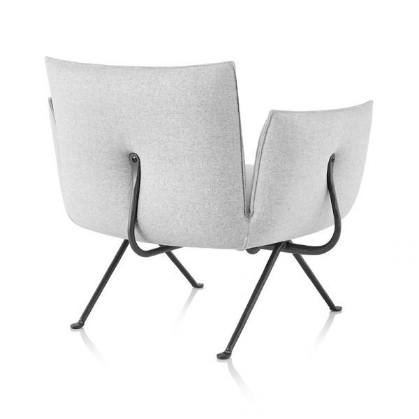 Officina Lounge Chair with Forged Iron Black Base