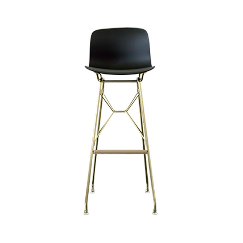 Magis Troy Bar Stool with Steel Rod Base by Marcel Wanders Olson and Baker - Designer & Contemporary Sofas, Furniture - Olson and Baker showcases original designs from authentic, designer brands. Buy contemporary furniture, lighting, storage, sofas & chairs at Olson + Baker.