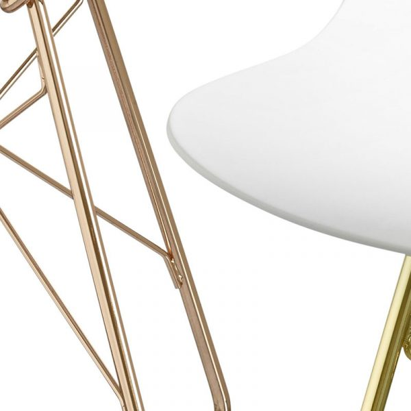 Troy Wireframe High Bar Stool